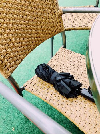 Umbrella Rain Prepared Chair Day Outdoors