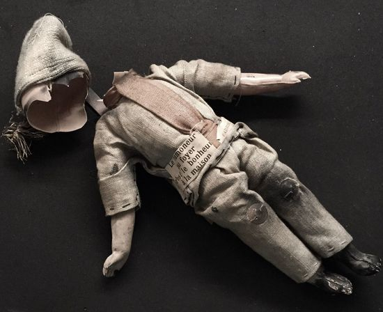 Some headaches are worse than others. Broken Vintage Broken Doll Smashed Destroyed Forlorn Casuality French Doll Sad Forgotten Playthings