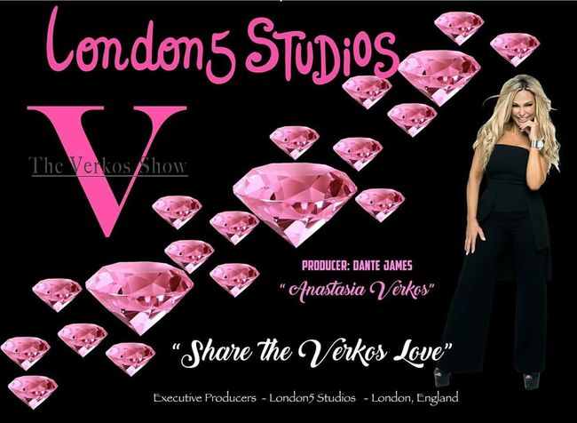 "Time to SHARE the LOVE...💞 With THE VERKOS SHOW!!! LONDON 5 STUDIOS.... THE VERKOS SHOW WE ARE BRINGING LOVE TO EVERYONE ...""SHARE THE VERKOS LOVE""... WE ARE IN YOUR CITY..... EVERYONE TOGETHER .... LOVE IS GLOBAL... WE UNITED AS ONE ... THE VERKOS SHOW ..PEACE, ...LOVE... UNITY,... and YOU !!! ...............THE VERKOS SHOW ... WE ARE HERE !!!... SHARE THE LOVE WITH US !!!!!! Anastasia Verkos #anastasiaverkos #theverkosshow #talkshowangel #televisionseries #london5studios #TVSeries #TVShow #London #NYC #love #passion #life #inspire #empower #motivation #inspirational #show #truth Anastasiaverkos Theverkosshow Talkshowangel Televisionseries Tvseries Tvshow London NYC Inspire Empower Love Worldwide Show Fashion Fitness Beauty Hair Makeup Picoftheday Photography Blackboard  Drink Women Bird Party - Social Event Love Human Skull Heart Shape Text Females"