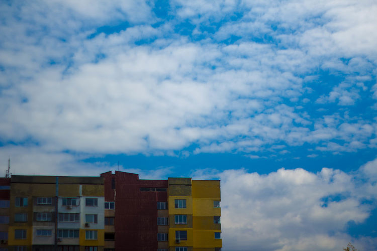 Cloud - Sky Sky Architecture Building Exterior House Outdoors No People Built Structure Residential Building Apartment Day Nature City Cityscape Urban Skyline Liulin Sofia, Bulgaria
