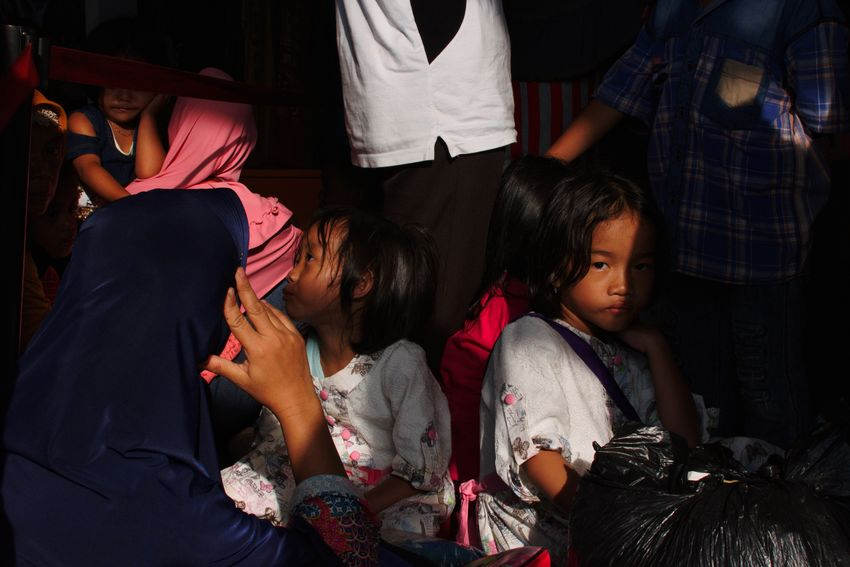 Bogor, Indonesia. January 2018 Streetphotography Documentaryphotography Train Train Station Commuter Commuting Commuter Train Commuters Commuterline Transportation Local Transport People Togetherness Adult Lifestyles Indoors  Two People Child Real People Human Body Part Young Women Girls The Street Photographer - 2018 EyeEm Awards