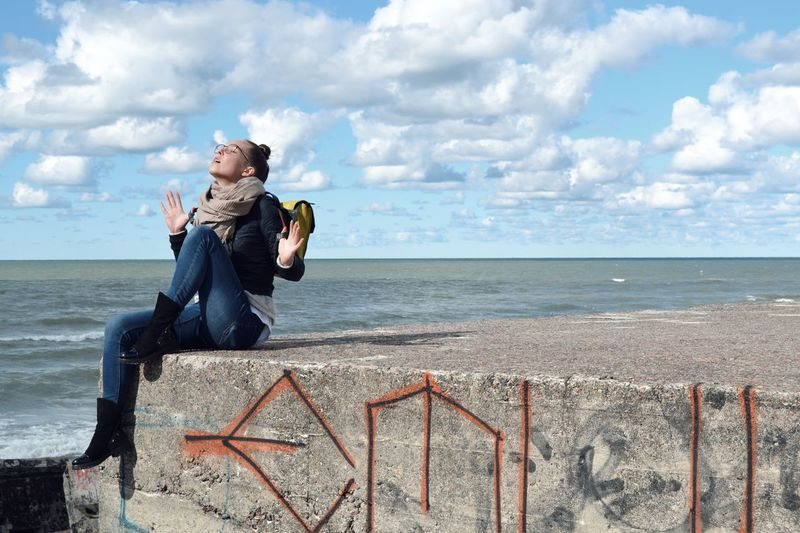 People EyeEm Selects Water Sea Beach Full Length Sand Sky Horizon Over Water Cloud - Sky Tranquil Scene