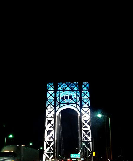 Newyork Bridge View George Washington Bridge