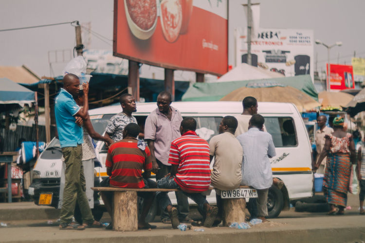 Accra Africa City Conversation Day Friendship Outdoors Togetherness Transportation Waiting Waiting For The Bus
