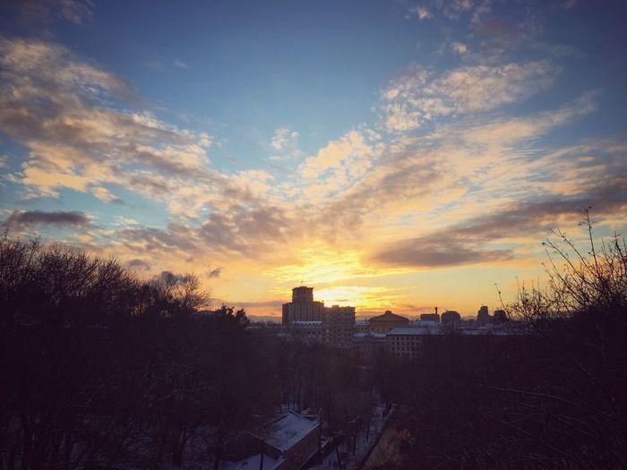Sunset in Kiew