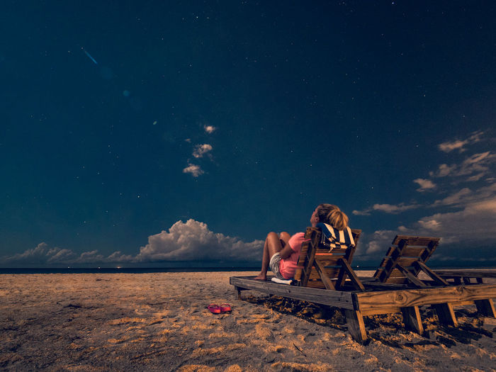 Jessi watch the stars Sky Real People Sitting Leisure Activity Beauty In Nature Star - Space Cloud - Sky People Nature Land Lifestyles Night Scenics - Nature Beach Young Adult Astronomy Outdoors Woman Young Woman Female Beach Photography Nightphotography Florida Florida Life Madeira A New Perspective On Life It's About The Journey Moments Of Happiness My Best Photo