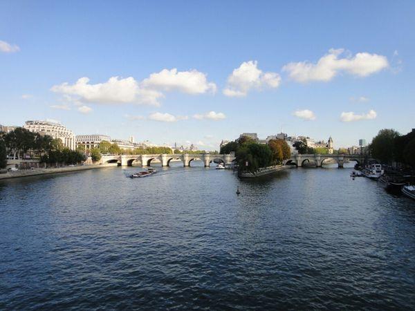Paris France At Quais De Seine Seine La Seine