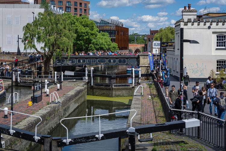 Water Transportation Architecture Built Structure Building Exterior Nature Day City Outdoors Building Canal Camden Town Camden Lock Camden Canals People Bridge Group Of People Large Group Of People Crowd Real People Women Men Lifestyles Street