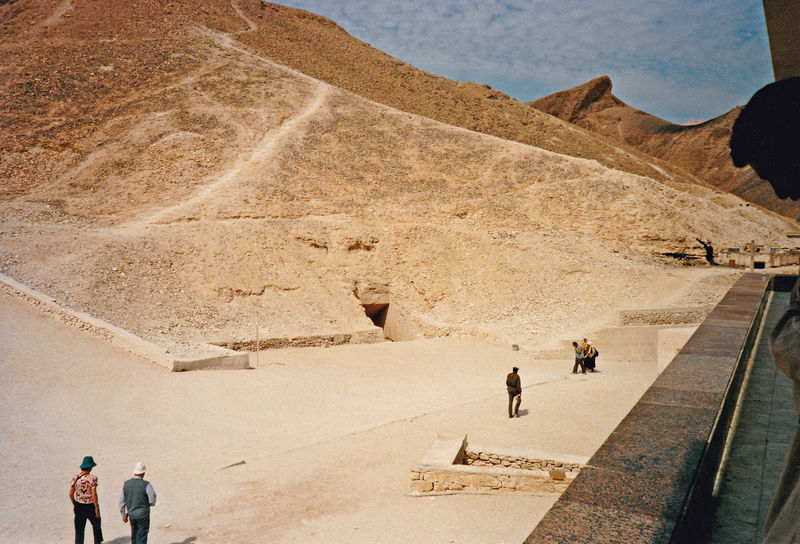 General view of the tomb area - Valley of the Kings, Thebes, Luxor, Egypt Desert People Beach Nature Real People Men Sky Day Outdoors Sand Valley Of The Kings Sand Dune Egyptology One Person One Man Only Arid Climate Arid Landscape Valley Floor Tutankhamun's Tomb Pharohs Tombs