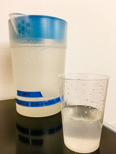Barium Blue Close-up Con Day Focus On Foreground Freshness Hospital Kontrastmittel Mrt No People Refreshment Still Life