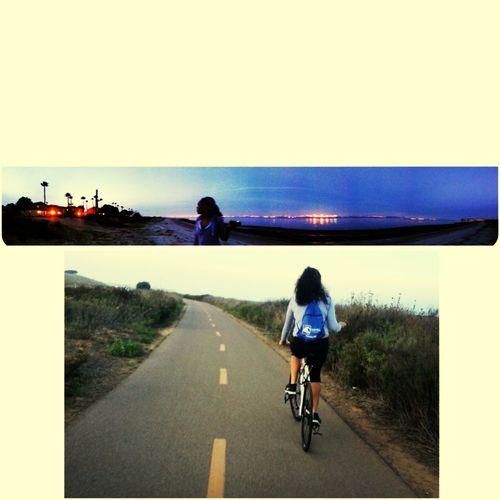 Biking with the best friend! Enjoying Life Biking Exercising (: Sandiego