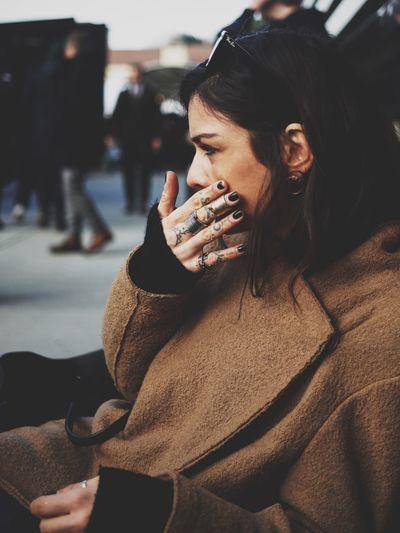Wiping tears GoodFellas IMP At Pitti Uomo 89 Fashion Stylish Vscocam Style EyeEm Best Shots Portrait Streetportrait Streetphotography NX1 Street Portrait Street Style Color Photography Beautiful Crying Tattoo Pu89 Up Close Street Photography The Portraitist - 2016 EyeEm Awards Tattoo Life