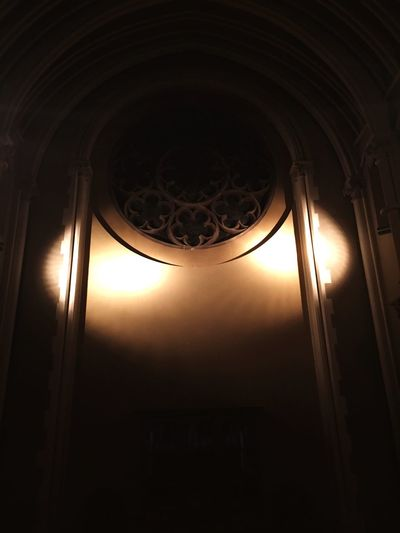 Rose Window Nighttime