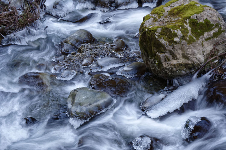 Miles Away Water No People High Angle View Nature Motion Beauty In Nature Outdoors Day Backgrounds Close-up Waterfall Winter Allgäu Klamm Breitachklamm Contrast Abstract Flow