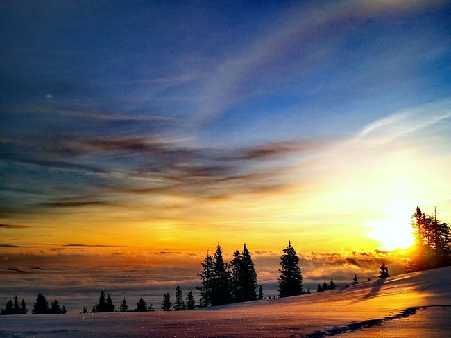 sunrise Austria Clouds And Sky Mountain Range Sunset_collection Mountain View Dobratsch Sunset Beach Tree Dusk Sky Outdoors Winter Landscape Cloud - Sky No People Travel Destinations Blue Silhouette Scenics Cold Temperature Nature Beauty Beauty In Nature