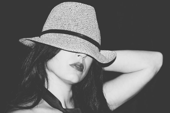 Blackandwhite Portrait Tie Hat Hats Funny Moments Girl Girls Gentlewoman Selfies Selfportrait Girlpower Self Portrait Self Portrait Around The World Selfietime Miss Selfie Portrait Selfie ♥ Style And Fashion Black And White Fun Hand In Hair Selportrait Black And White Portrait Foreground Enjoying Life