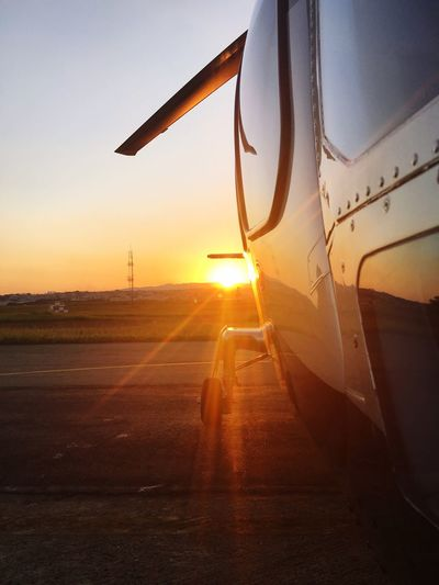 First Eyeem Photo Sao Paulo - Brazil Guarulhos Airport Helicopter Agustawestland A109 Power Sunset