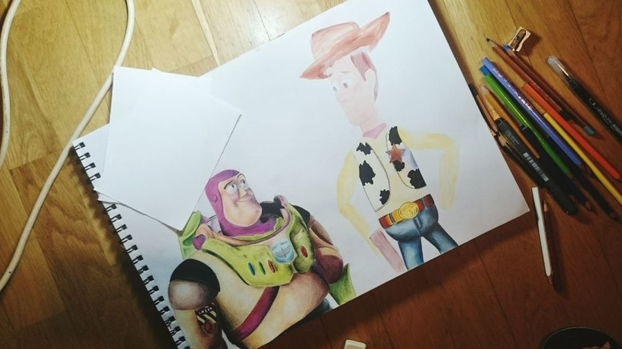 Art Draw Toystory Buzzlightyear Hello World Drawingtime Artistic Hi! Woody ArtWork Film Colors Drawing