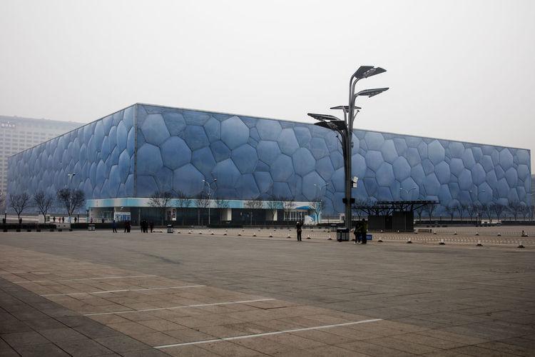 Beijing National Aquatics Center Beijing Olympic Park Beijing Olympic Village Beijing Water Cube Beijing WaterPark Beijing, China Built Structure China City City Life Outdoors Tourism Travel Destinations
