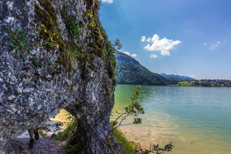 Felsenstor Weißensee Bavaria Bavaria Beauty In Nature Day Felsentor Lake Nature No People Outdoors Rock - Object Scenics Sky Tranquility Tree Water Weißensee