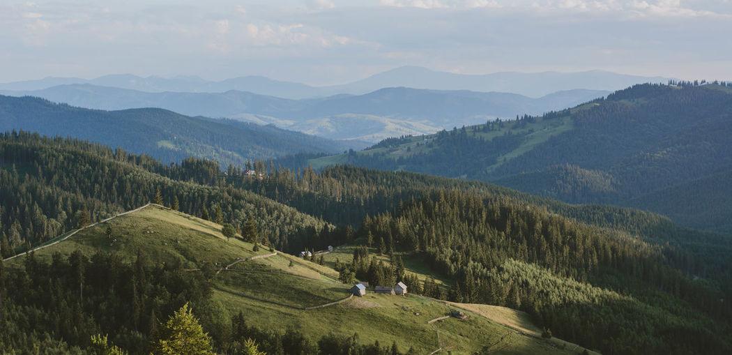 Mountain view in bucovina, romania