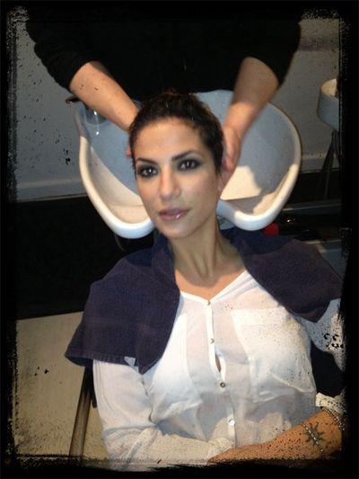 Roberta Morise presso salotto giulia parrucchieri