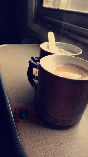 Lahore Vication Tour Love PakistaN Fog Tea Train Tracks Snapchat Tea Is Healthy Tea Cup Tea Time Indoors  Food And Drink Drink Table Refreshment No People Healthy Eating Tea - Hot Drink Close-up Freshness
