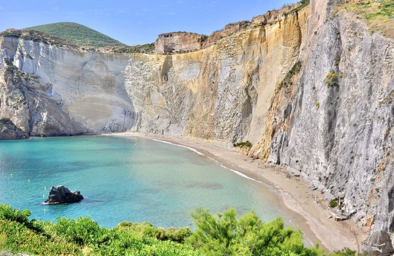 Beach Beauty In Nature Geology High Angle View Island Isola Di Ponza  Italy Landscape Limestone Mountain Nature No People Outdoors Ponza Rock - Object Rock Formation Scenics Sea Sky Tourism Travel Destinations Water Yacht Yachting