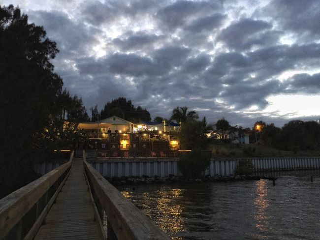 Dining on the river Melbourne Florida Indian River Indian River Lagoon Night Lights Night Photography Nightlife Light Reflection