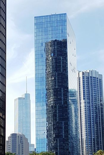 Architecture Building Exterior Skyscraper City Modern Low Angle View Blue Glass - Material Urban Skyline City Life Built Structure Reflections Reflection
