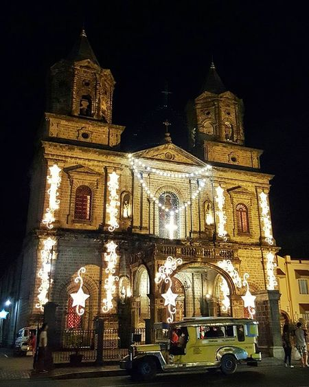 One of the beautiful sights I missed most from Pampanga, so glad I was able to see it again last night and capture it in all it's Christmas glory Religiousarchitecture Architour Oldchurch Nightshot Nightscapephotography Xmas2015 Habolpasapasko Travelphotography Traluluphilippines