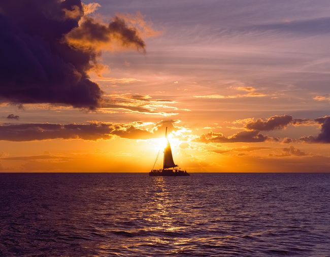 Sunset Sailing Two Calm Freedom Beauty In Nature Cloud - Sky Horizon Over Water Nature Nautical Vessel No People Ocean Outdoors Peaceful Reflection Sailboat Sailing Scenics Sea Sky Sun Sunset Tranquility Water