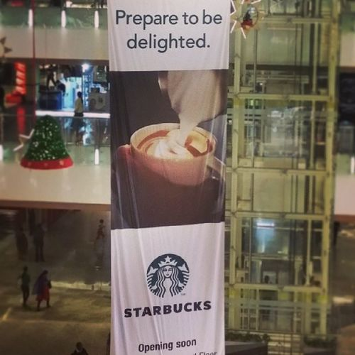 Oh the joyy :D Bangalore Orionmall Starbucks