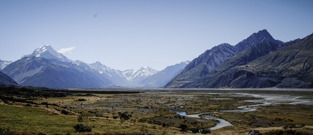FUJIFILM X-T1 Melting Mount Cook NZ New Zealand Beauty New Zealand Impressions New Zealand Scenery New Zealand Landscape Panorama Broad Field Cold Temperature Glacier Landscape Mount Cook Mount Cook National Park Mountain Range New Zealand Open Range Outdoors Scenery Scenics Snowcapped Mountain Tranquil Scene Valley Wide Area Network