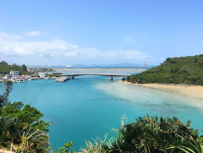Bridge Ocean Sky Blue Viewing Platform Observatory Okinawa Fine Day Motheranddaughtertime