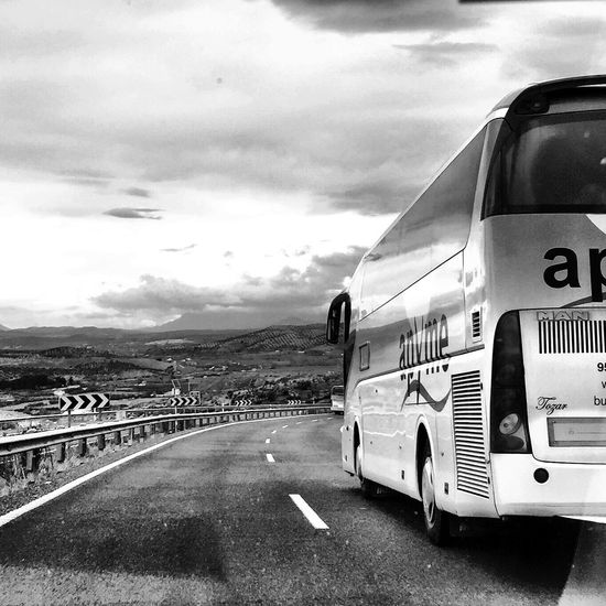 A punto Streetphoto_bw Traveling Blackandwhite Black And White Monochrome Bw_collection On The Road Clouds And Sky