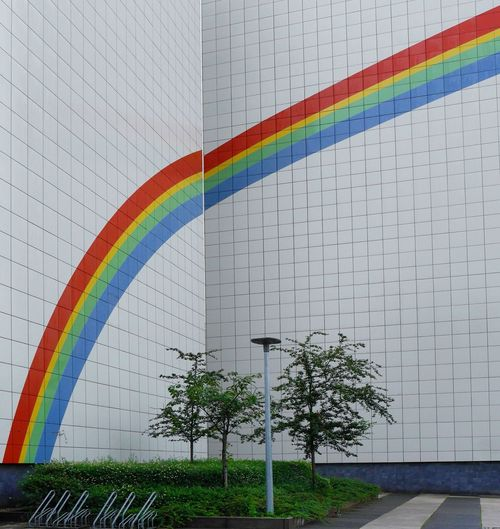 Rainbow over ... Multi Colored No People Outdoors Architecture The Architect - 2017 EyeEm Awards Building Exterior Travel Destinations Discover Berlin The Graphic City