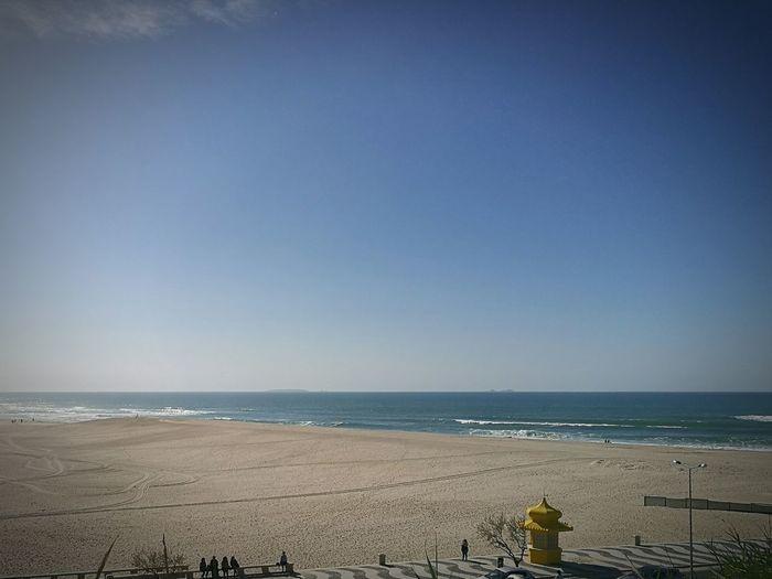 🌊🌅 Beach Sea Horizon Over Water Sky Outdoors Day Nature No People Fozdoarelho Caldas Da Rainha Portugal Portugal_lovers