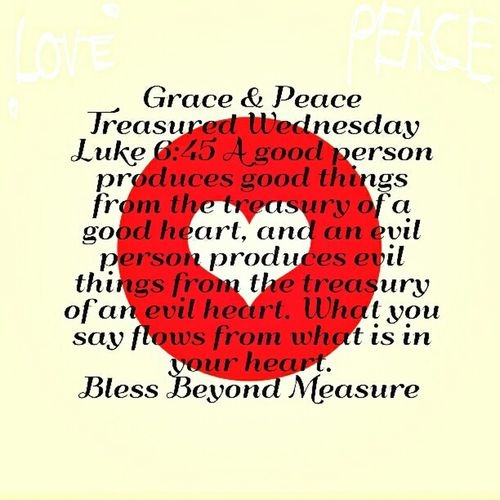 Grace & Peace Treasured Wednesday