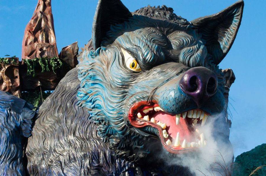 Carnival Float Carnival Parade Colors Cosplay Costumes Day Masks People Wolf Carnival Crowds And Details