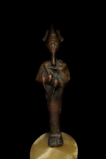 Black Background Close Up Egypt Egyptian Figurine  Light Box Light Tent Low Key Metal Miniature Still Life