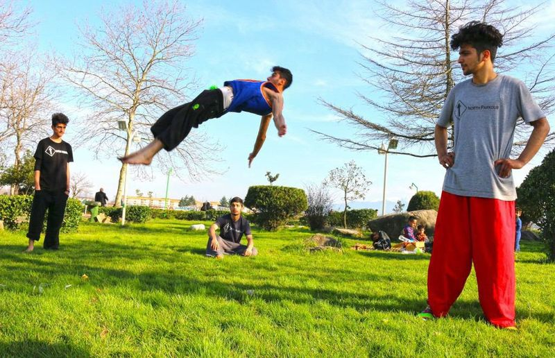 Childhood Enjoyment Friday Full Length Grass Jumping Lifestyles Parkour And Free Running Parkour Love <3 ParkourDay Person Tree Young Men