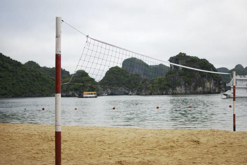 Beach Beauty In Nature Calm Halong Halong Bay Vietnam Net Non-urban Scene Outdoors Scenics Shore Sky Sport Tranquility Vietnam Vietnamese Volleyball Water