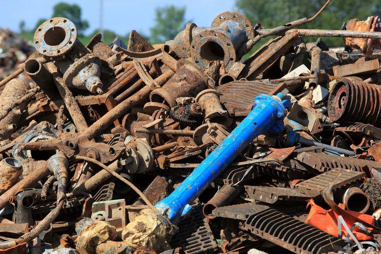 Full frame shot of metal scrap