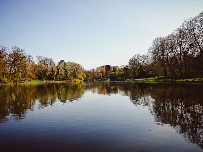 Blue Sky Copy Space Day Lake Landscape Natural Parkland Nature No People Outdoors Reflection Reflection Lake Sky Spring Summer Sunny Day Tourism Travel Tree Water étangs Tenreuken Pond Tenreuken Water Reflections Water_collection