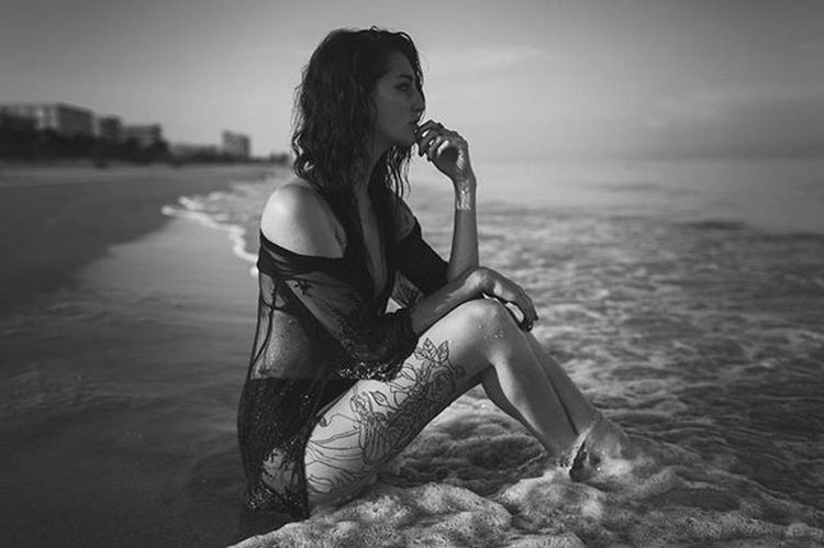Hey IG, so some of my images from the past shoot I just did is up. Not all of them are up. I am still editing the rest, but I was toooooo excited that I had to show you guys! 😀 I hope you like them. Link is in my bio! Blackandwhite Beach Model Vsocam Portraits Tattoo Justgoshoot Vscogood