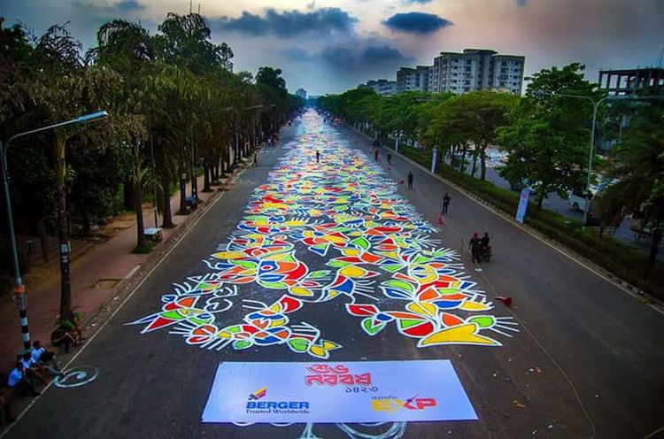 Hello World Check This Out 😊 Bengali New Year 14 April 2016 Bangladesh Street Painted Colourful Street Colourful Bengali Traditions Colour Of Bengali Life I Am Proud To Be A Bengali