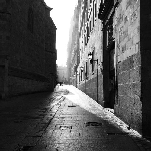 Calle con Historia Salamanca Black And White Blackandwhite