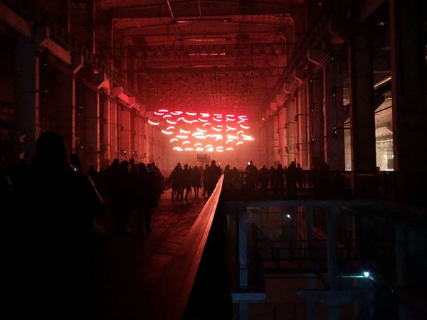 Impressive light installation - Reflections on Light & Sound Large Group Of People Illuminated Crowd Real People Arts Culture And Entertainment Night Leisure Activity Nightlife Silhouette Audience Music Performance Indoors  Lifestyles Mobility In Mega Cities HUAWEI Photo Award: After Dark