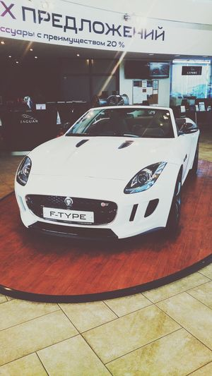 Car JAGUAR Jaguar F-Type White